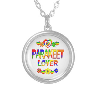 Parakeet Lover Silver Plated Necklace