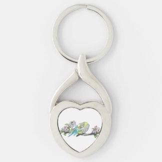 Parakeet on Branch Key Ring
