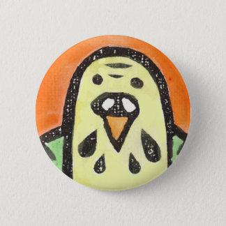Parakeet Portrait 6 Cm Round Badge