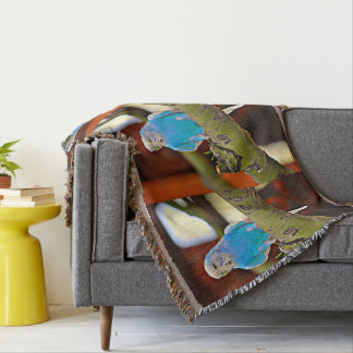 Parakeet Throw Blanket