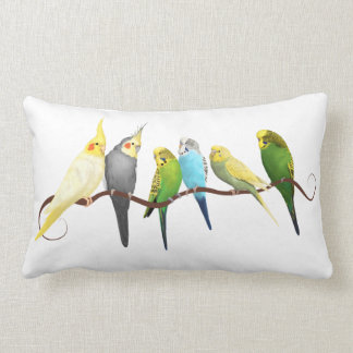 Parakeets and Cockatiels Lumbar Cushion