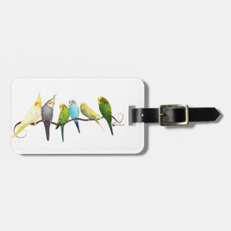 Parakeets & Cockatiels! Luggage Tag