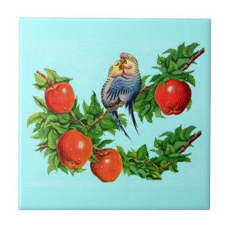 parakeets in love ceramic tile