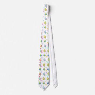 Parakeets & Polka Dots Pattern Tie