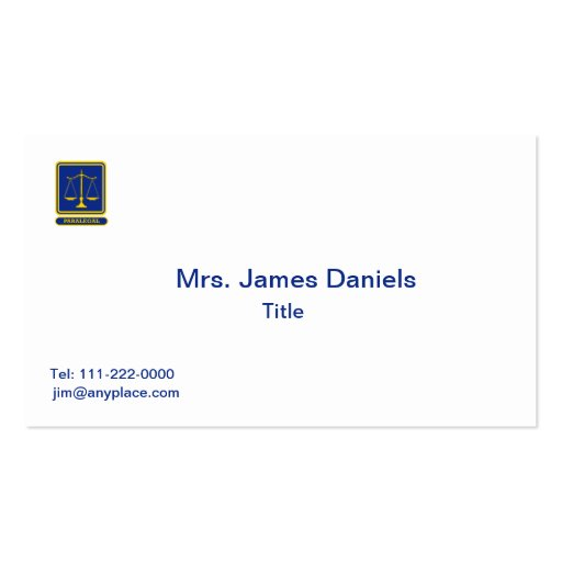 Paralegal Business Cards