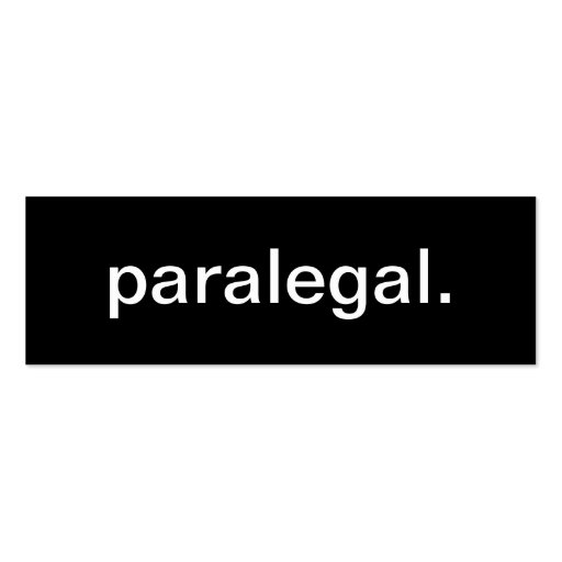 Paralegal Business Card