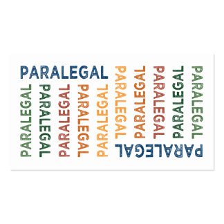Paralegal Cute Colorful Pack Of Standard Business Cards