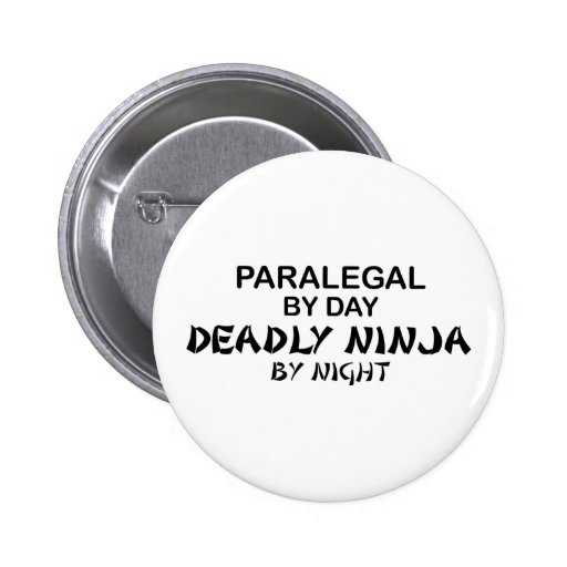 Paralegal Deadly Ninja by Night 6 Cm Round Badge