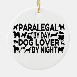 Paralegal Dog Lover Ceramic Ornament