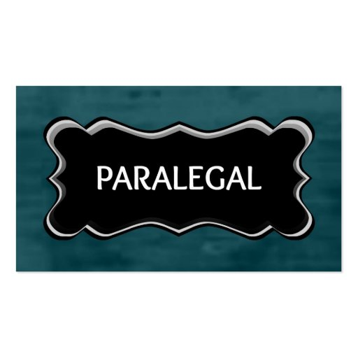 Paralegal Elegant Name Plate Business Cards