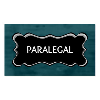 Paralegal Elegant Name Plate Pack Of Standard Business Cards