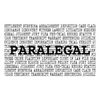 Paralegal Legal Words Business Card