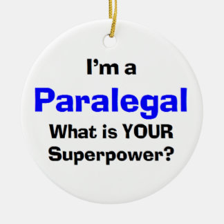 paralegal round ceramic decoration