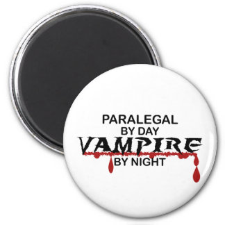 Paralegal Vampire by Night 6 Cm Round Magnet