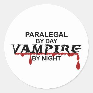 Paralegal Vampire by Night Round Sticker
