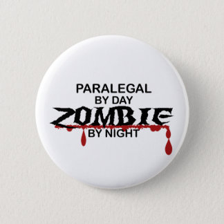 Paralegal Zombie 6 Cm Round Badge