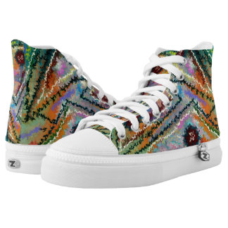 Parallel axiom by rafi talby printed shoes