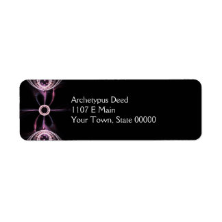 Parallel Universes Abstract Fractal Art Return Address Label