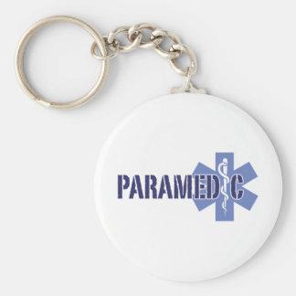 Paramedic Basic Round Button Key Ring