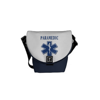 Paramedic Blue Star of Life Messenger Bags