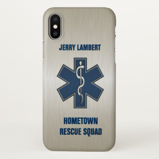 Paramedic Deluxe Name Template iPhone X Case