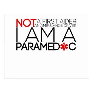 paramedic design cute postcard