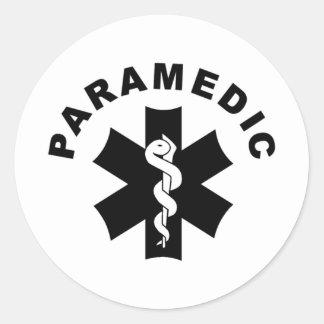 Paramedic EMS Rescue Logo Classic Round Sticker