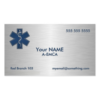 Paramedic EMT EMS Deluxe Pack Of Standard Business Cards