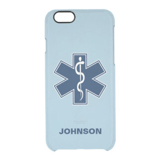 Paramedic EMT EMS Name Template Clear iPhone 6/6S Case
