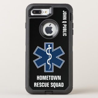 Paramedic EMT EMS Name template OtterBox Defender iPhone 8 Plus/7 Plus Case