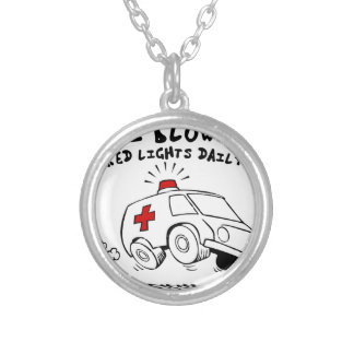 paramedic emt silver plated necklace