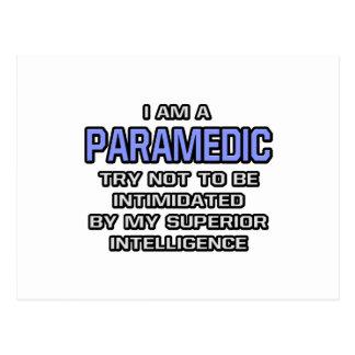 Paramedic Joke ... Superior Intelligence Postcard