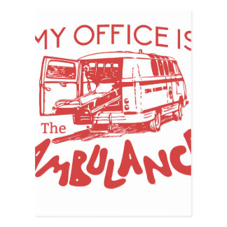 paramedic office postcard