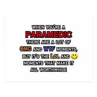 Paramedic ... OMG WTF LOL Postcard