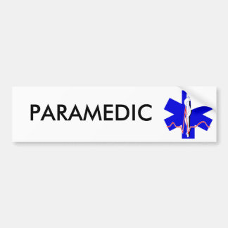 Paramedic Star of Life Bumper Sticker