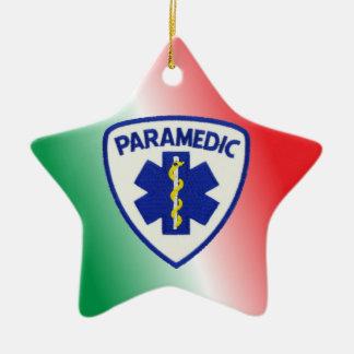 Paramedic Star of Life Christmas Ornament