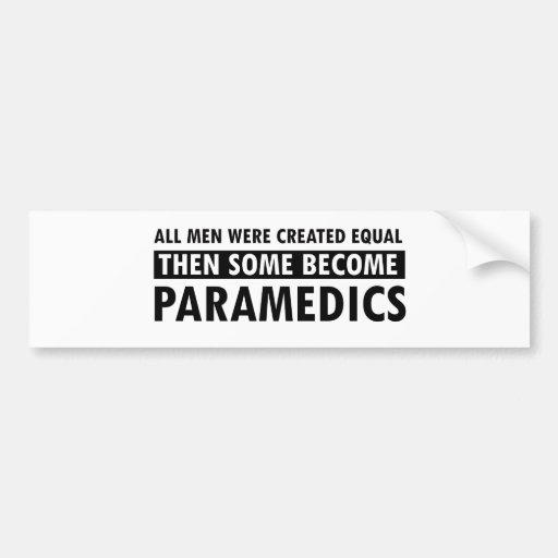 Paramedics designs bumper stickers