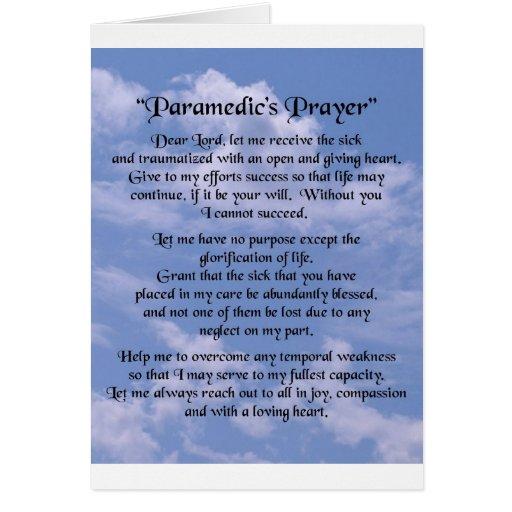 paramedics  prayer cards