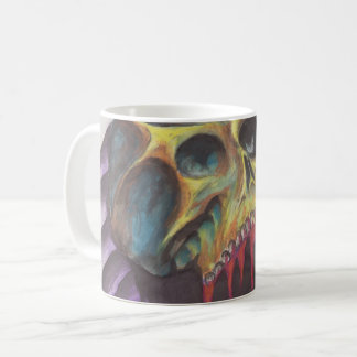 Paramore watercolor skull coffee mug