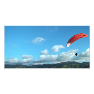 Paramotoring Custom Photo Card