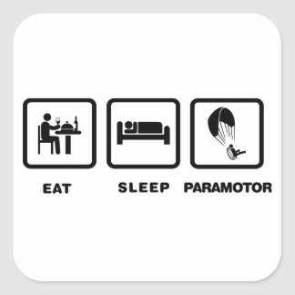 Paramotoring Square Sticker