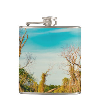 Parana River, San Nicolas, Argentina Hip Flask
