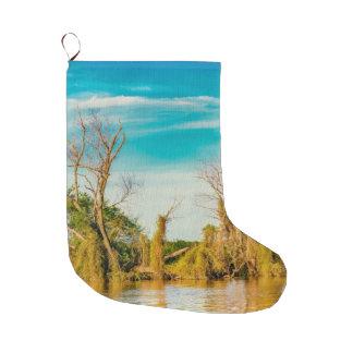 Parana River, San Nicolas, Argentina Large Christmas Stocking