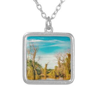 Parana River, San Nicolas, Argentina Silver Plated Necklace