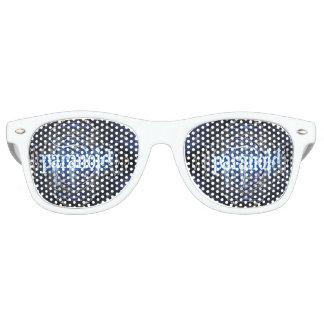Paranoid adult frame in white wayfarer sunglasses