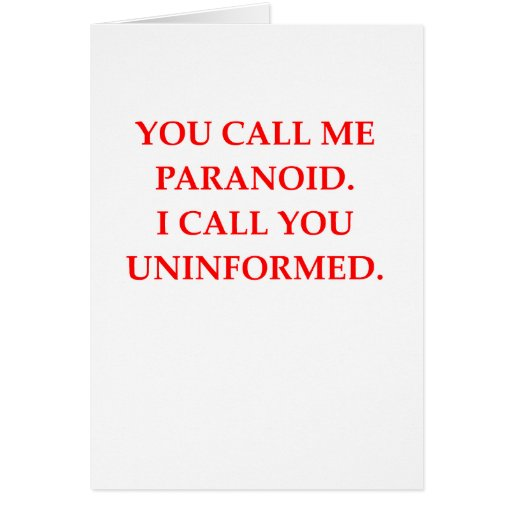 paranoid greeting card