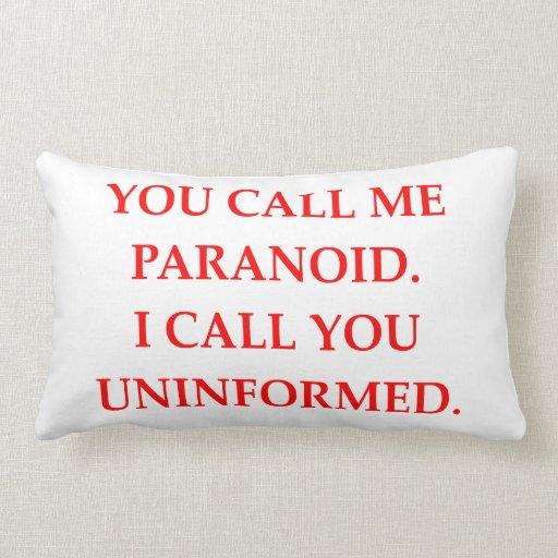 paranoid throw pillows