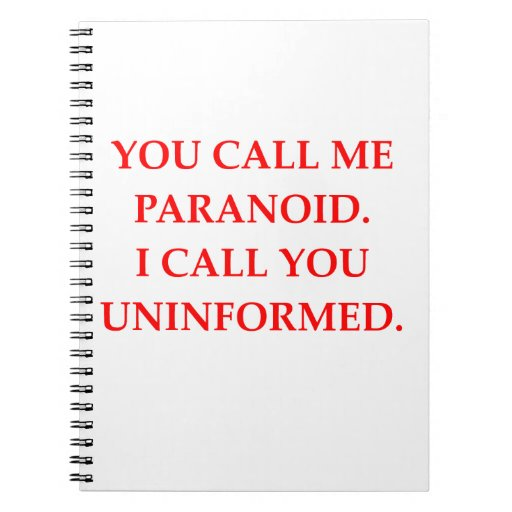 paranoid spiral note books