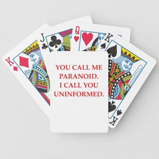 paranoid bicycle card decks