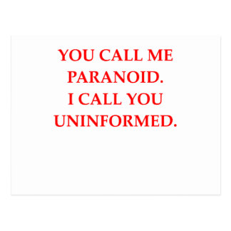 paranoid postcard